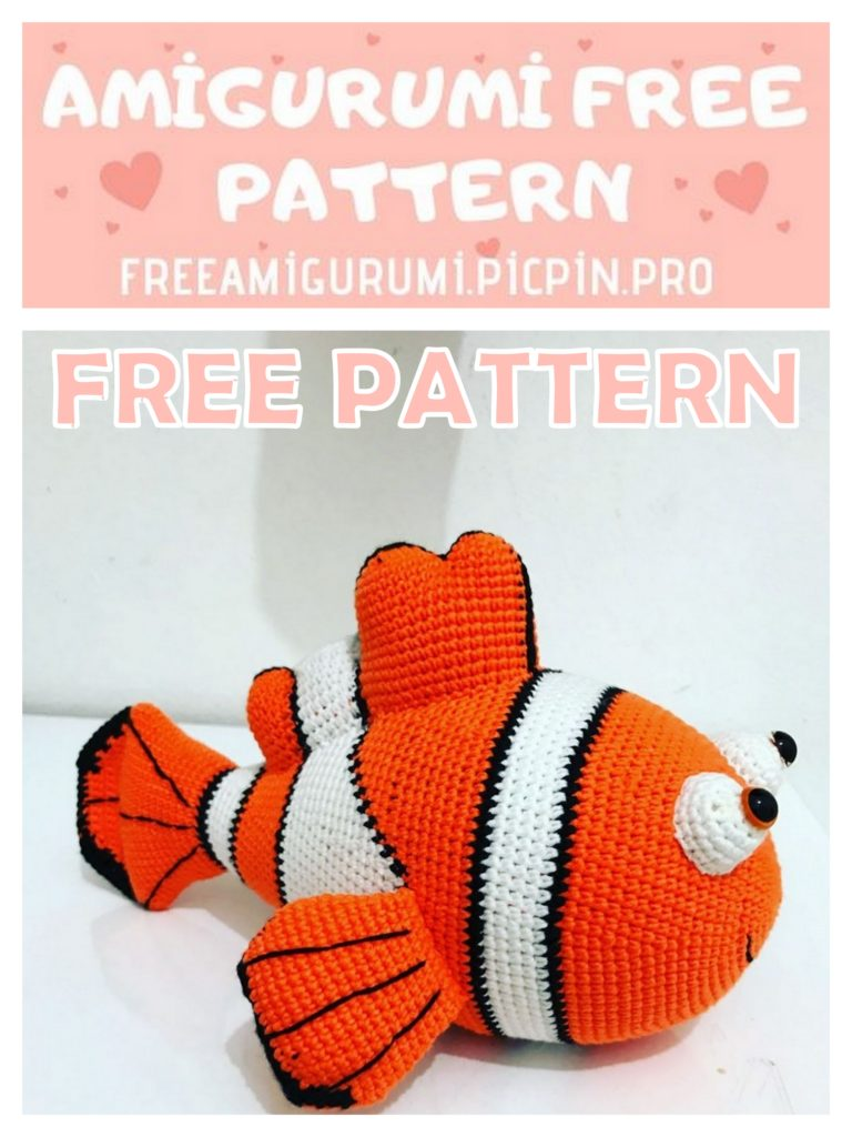 Amigurumi Crochet Pattern Clownfish - Pattern Presentation - YouTube | 1024x768