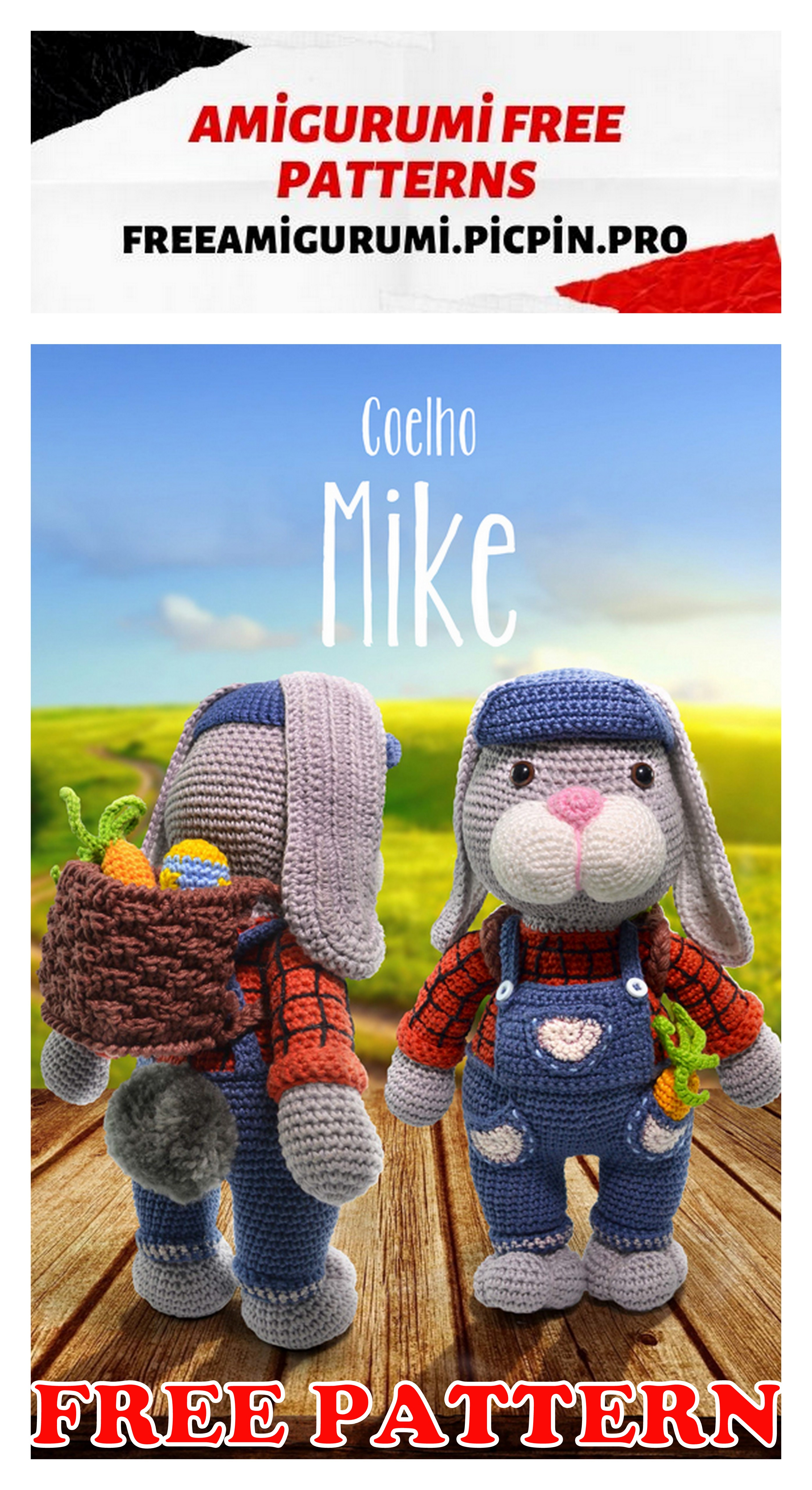 Olivia the Bunny Backpack Crochet Pattern | 5120x2793