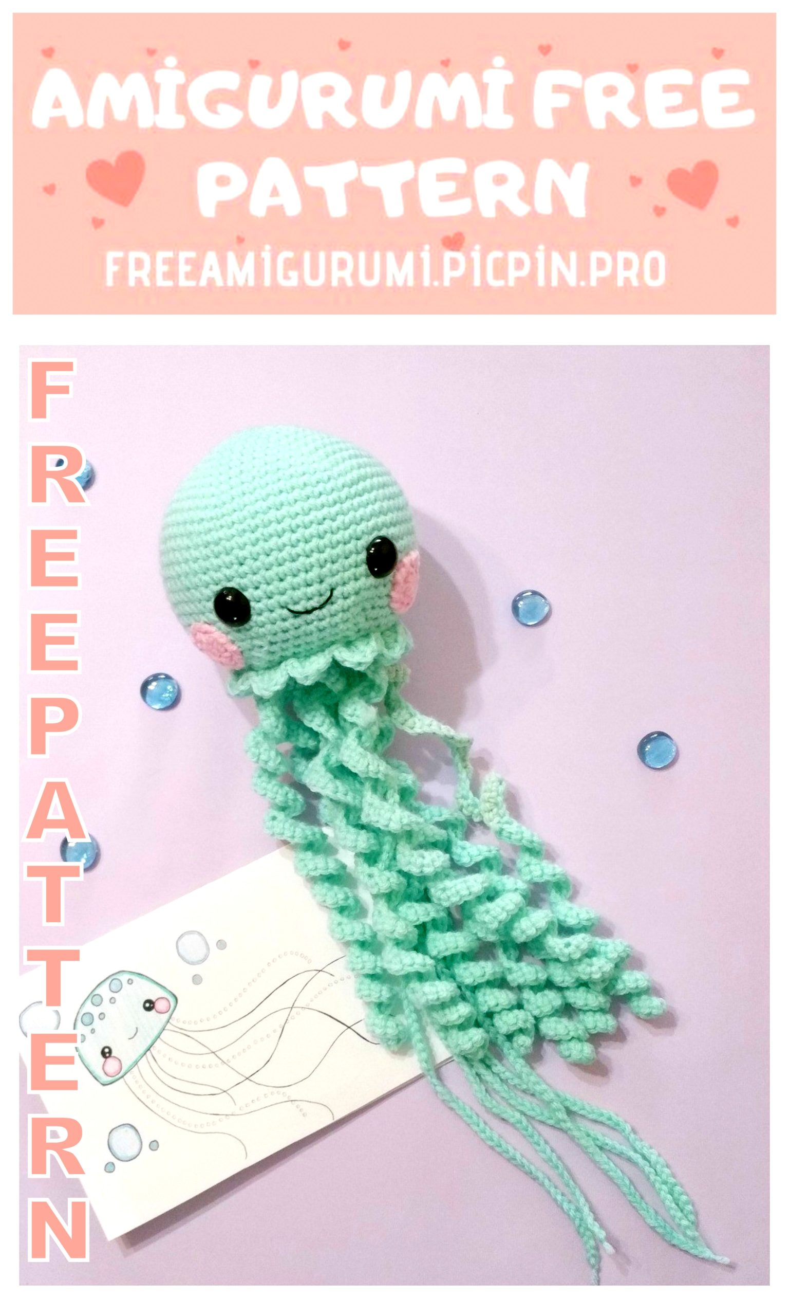 Underwater Amigurumi Free Crochet Patterns | Modèles de crochet ... | 2560x1536