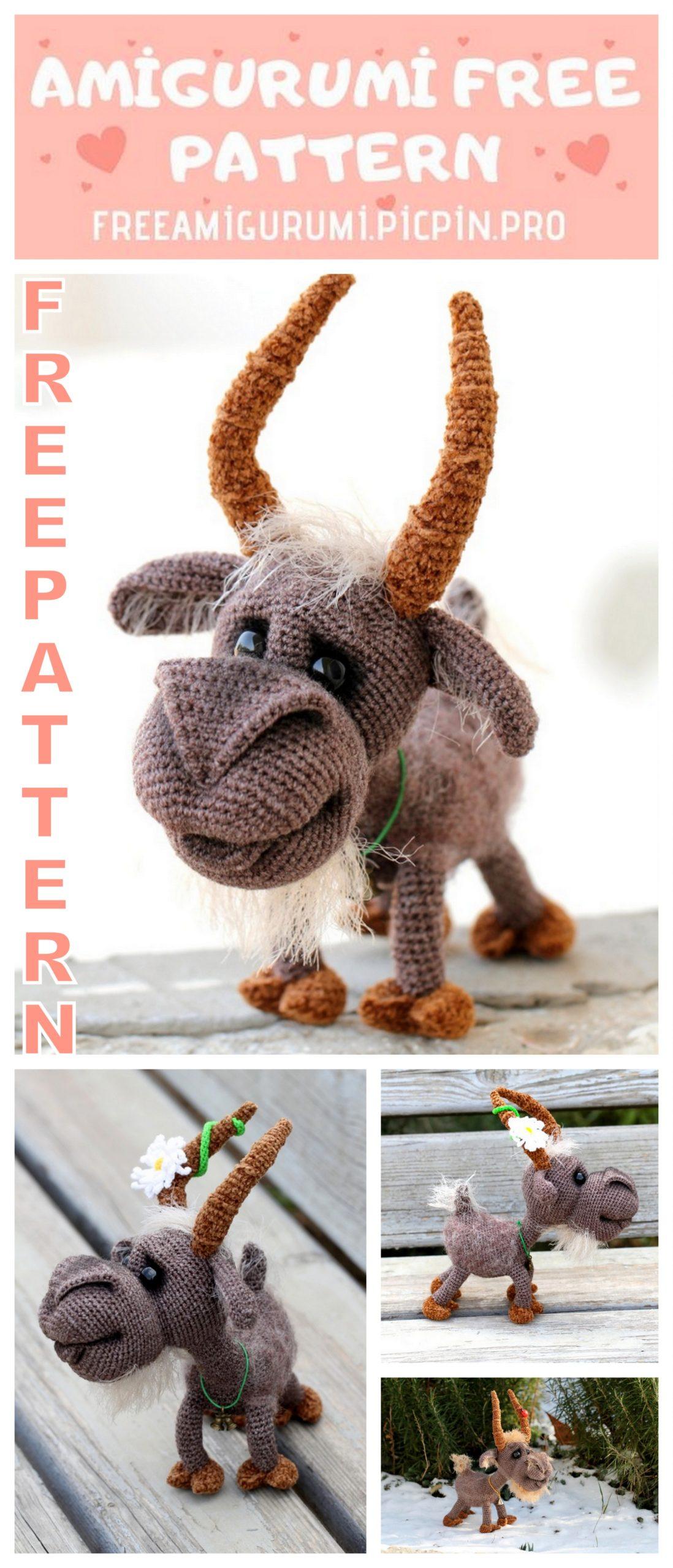 Handmade Billy Goat Crochet Amigurumi PATTERN ONLY. Stuffed | Etsy | 2560x1098