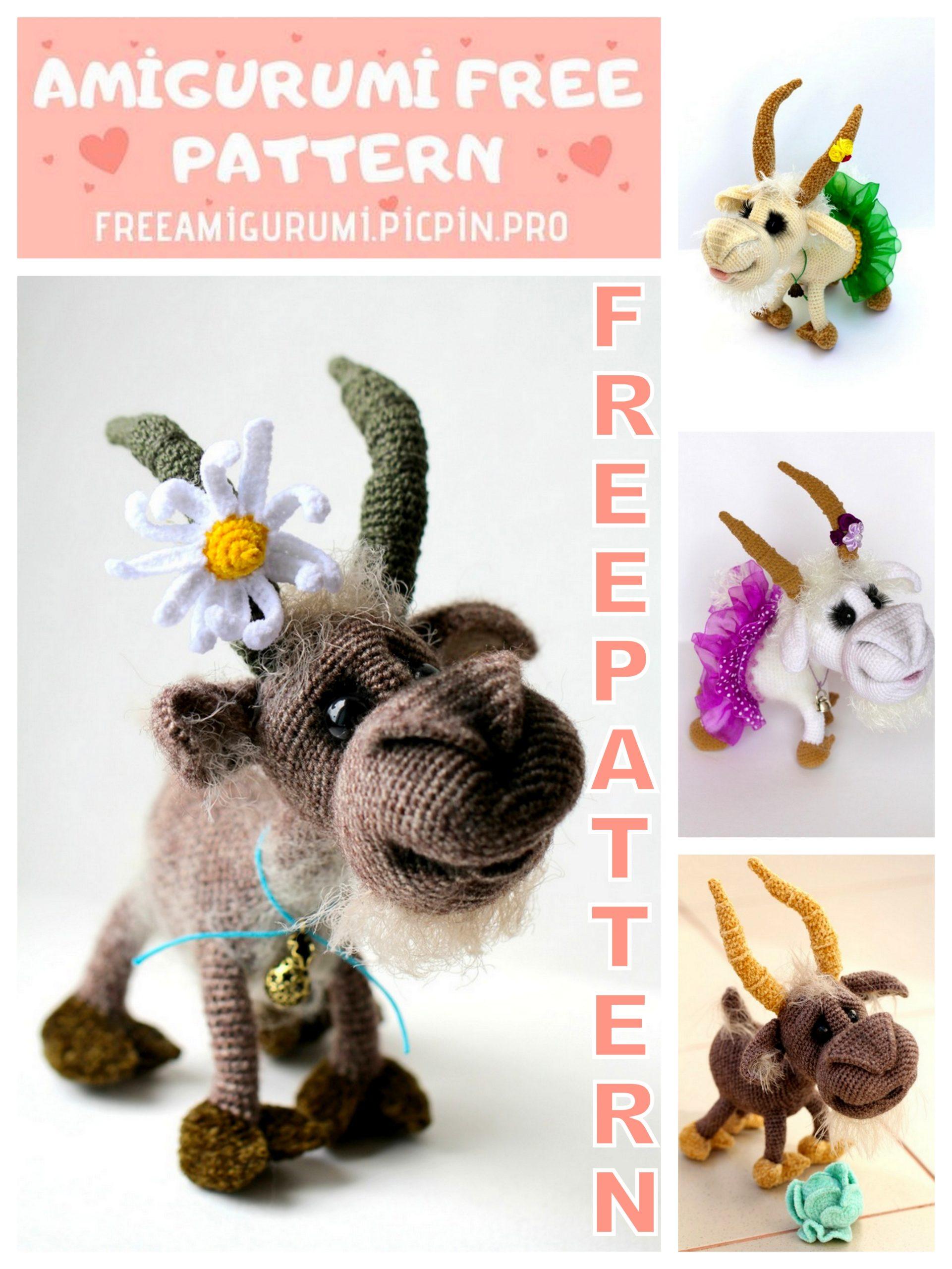 PATTERN: Crochet goat pattern Amigurumi goat pattern | Etsy | 2560x1921